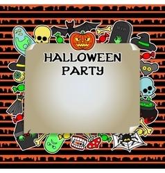 Halloween party mock up vector