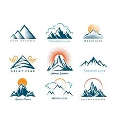 Mountain logo set vector image vector image