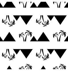 pyramids seamless on white vector image vector image