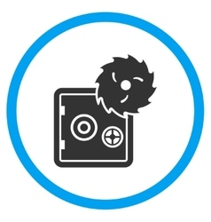 Safe Breaking Circled Icon vector image vector image