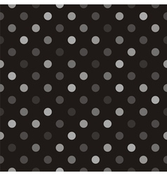 Seamless polka dots dark background vector image vector image