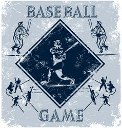 sport game baseball vector image