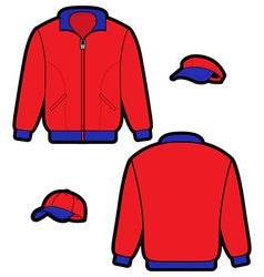 sports jacket vector image vector image