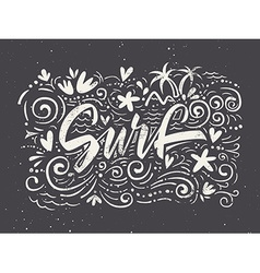 Surf to print T-shirts vector image