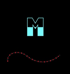 letter M-01 vector image vector image