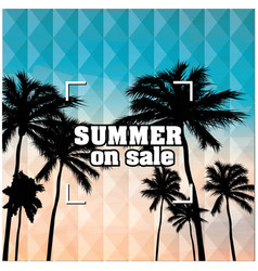 summer on sale beach focus background image vector image vector image