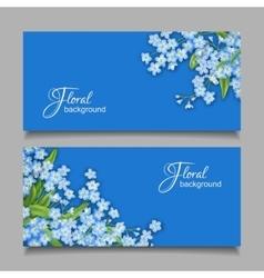 Vintage Floral Banner vector image