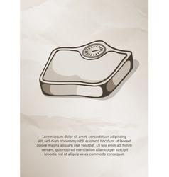 Bathroom scale Vintage Label Logo Frame vector image