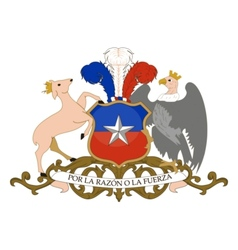 coat of arms of Chile vector image vector image
