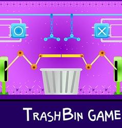 game board trashbin vector image vector image