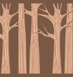 Autumn trees forest background vector
