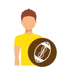 avatar person athlete icon vector image
