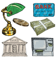 banking objects vector image