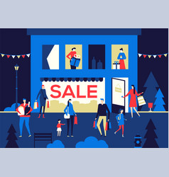 big sale - flat design style colorful vector image