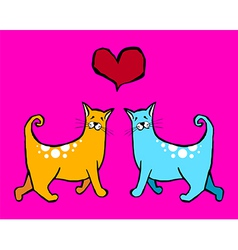 Cats Valentines vector image