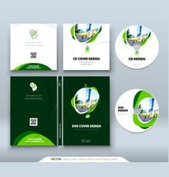 Cd envelope dvd case design orange corporate vector