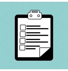 checklist icon design vector image