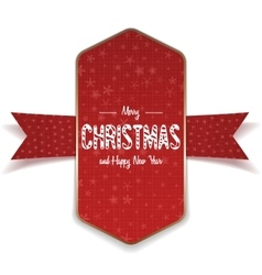 Christmas realistic big red and gold Banner vector