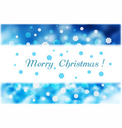 christmas snowflakes and white strip for text vector image