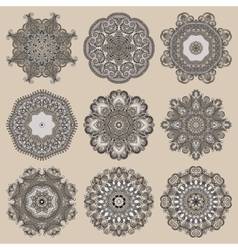 Circle lace ornament round ornamental geometric vector image