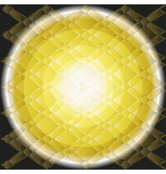 Circle light Golden texture on dark backgound vector