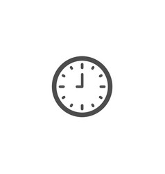 clock flat icon isolated on white background vector image