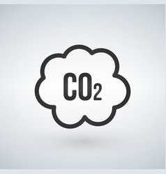 Co2 cloud icon ecology clean environment sign vector