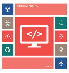 Coding symbol icon elements for your design vector