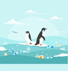 Concept ocean pollution vector