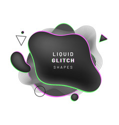cover background with abstract black liquid shape vector image