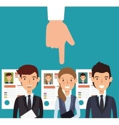 Curriculum recruitment employee isolated vector