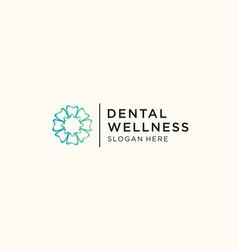 dental care logo template design vector image