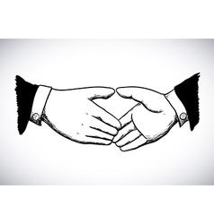 done deal over white background vector image