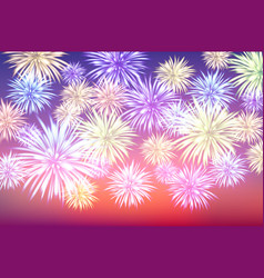 fireworks and copy space - abstract holiday vector image