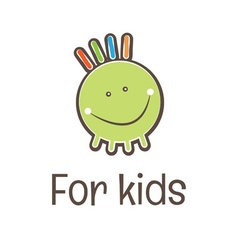 For kids logo vector image