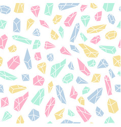 geometric seamless pattern with crystals and vector image