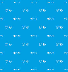 Glasses pattern seamless blue vector