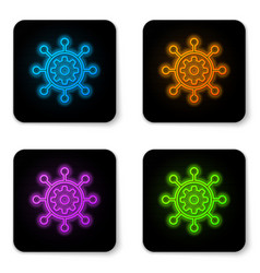 glowing neon project management icon isolated on vector image