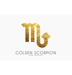 Golden scorpion Golden zodiac sign Scorpion vector image