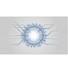 grey white and blue abstract technology vector image