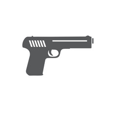 Gun icon isolated on white background vector