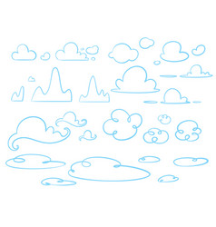 hand drawn doodle clouds vector image