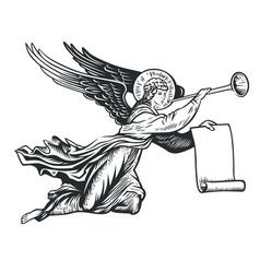 Llustration angel vector