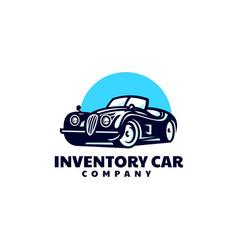 logo car simple mascot style vector image