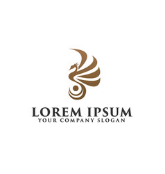 Luxury bird phoenix logo design concept template vector