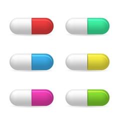 Medical pills 3d vector image
