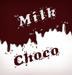 Milk and choco splash vector