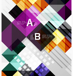 Modern square abstract background vector