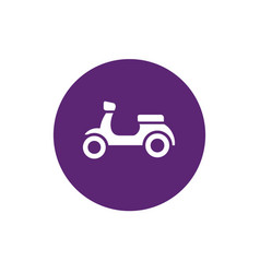 motorcycle and purple circle shape icon vector image