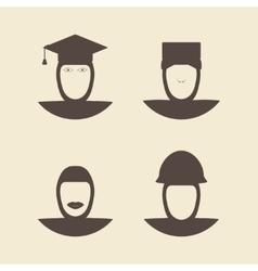 Muslim female avatar faces vector image